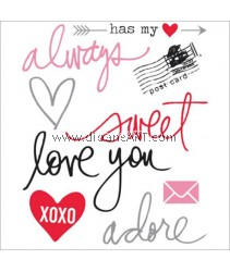 Clear Stamp, Words, Sold individually
