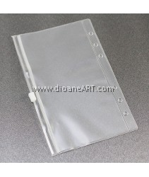 Zipper Bag, for Spiral Type 6 holes Notebook/Planner, PVC, A6 size, sold by per pcs