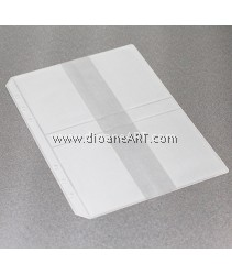 Card Holder(4 cards), for Spiral Type 6 holes Notebook/Planner, PVC, A5 size, sold by per pcs