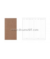 Expenses insert for Traveller's Journal/Notebook, 110 x 210mm, 80g x 64 pages, Cover: 300g Kraf paper, 1/pack