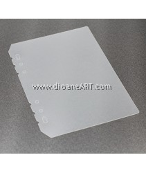 PP Protection Board, for Spiral Type 6 holes Notebook/Planner, PVC, A5 size, sold by per pcs