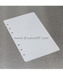 PP Protection Board, for Spiral Type 6 holes Notebook/Planner, PVC, A6 size, sold by per pcs