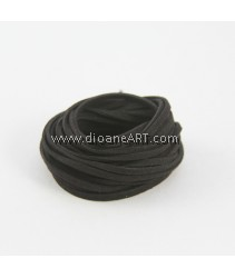 Velveteen Cord, Black, 3x2mm, Sold by per pack of 6m