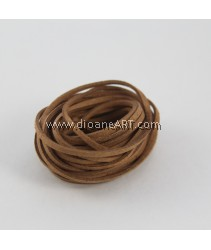 Velveteen Cord, Coffee Color, 3x2mm, Sold by per pack of 6m