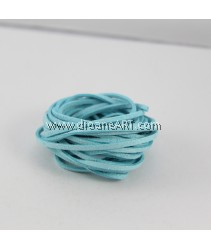 Velveteen Cord, Light Blue, 3x2mm, Sold by per pack of 6m