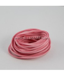 Velveteen Cord, Light Pink, 3x2mm, Sold by per pack of 6m