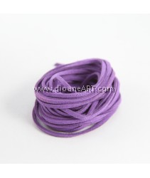 Velveteen Cord, Purple, 3x2mm, Sold by per pack of 6m