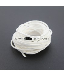 Velveteen Cord, White, 3x2mm, Sold by per pack of 6m