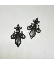 Decorative Metal Shield Corner Pieces , 28x46mm, Bronze, 2pcs/pack
