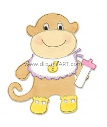 Sizzix Bigz Die - Animal Dress Ups Monkey
