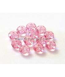 SWAROVSKI, 5040 ,8MM ,LT.ROSE ,223, 6PCS/PACK