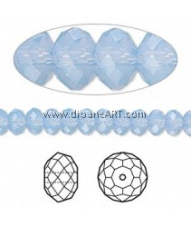 SWAROVSKI, 5040 ,8MM AIRBLUEOPAL, 285, 6PCS/PACK