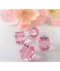SWAROVSKI, 5601 8MM ,LT.ROSE'B', 223ABB,2PCS/PACK