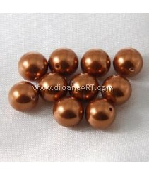 SWAROVSKI, 5810, 8MM, COPPERPEARL, 50PCS/PACK