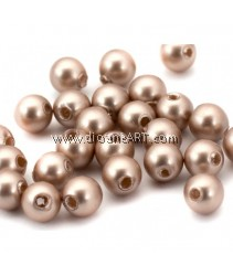 SWAROVSKI, 5810, 8MM, POWDERALMONDPEARL, 50PCS/PACK