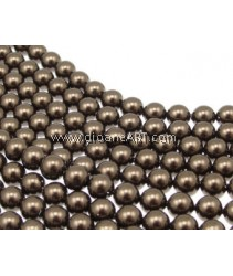 SWAROVSKI, 5810, 8MM,BROWN PEARL, 50PCS/PACK