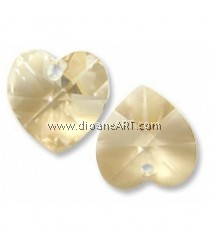 SWAROVSKI, 6202, 14.4MM ,CRY GOL.SHA ,001GSHA ,2PCS/PACK