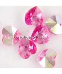 SWAROVSKI, 6202, 14.4MM ,ROSE ,209AB ,2PCS/PACK