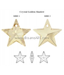 SWAROVSKI, 6714 20MM ,CRY GOL.SHADOW,001GSHA ,1PC/PACK
