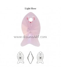SWAROVSKI, 6727 18MM ,LT.ROSE, 223 ,2PCS/PACK