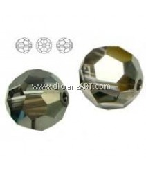 SWAROVSKI,5000,10MM, CRYSTALSILVNIGHT, 001SINI , 2PCS/PACK