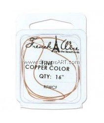 French Wire, Copper Colour, Fine (0.7MM) - 16inch. Sold per pack of 16 inch