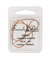 French Wire, Copper Colour, Heavy (1.1MM) - 14inch. Sold per pack of 14 inch
