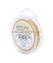 Artistic Wire®, Copper Wire, Non Tarnish Brass, Twisted Round, 18 guage, 5yd