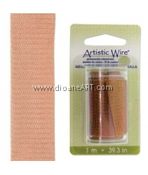 Wire Mesh, Artistic Wire®, Copper, 18mm, 1 Meter/Card