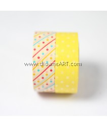 Washi Tape #12, 15mm x 10m each,  2/pack