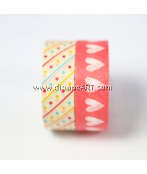 Washi Tape #15, 15mm x 10m each,  2/pack