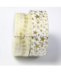 Washi Tape #4, Gold colour, 15mm x 10m each,  2/pack