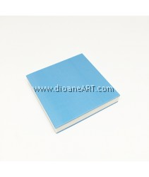 Rubber Stamp Carving Block, Colour: blue+White, 5x5x0.8cm