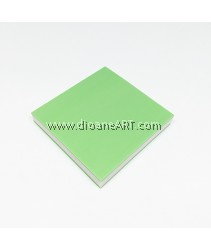 Rubber Stamp Carving Block, Colour: lightgreen+White, 5x5x0.8cm