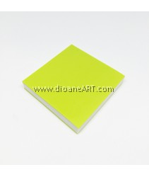 Rubber Stamp Carving Block, Colour: lightgreen2+White, 5x5x0.8cm