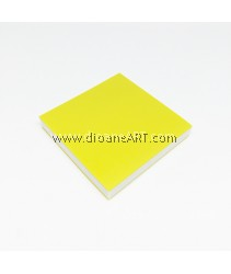 Rubber Stamp Carving Block, Colour: yellow+White, 5x5x0.8cm