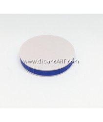 Rubber Stamp Carving Block, Round, Colour: blue+White, 5cm