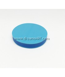 Rubber Stamp Carving Block, Round, Colour: blue2, 5cm