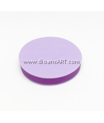Rubber Stamp Carving Block, Round, Colour: purple, 5cm