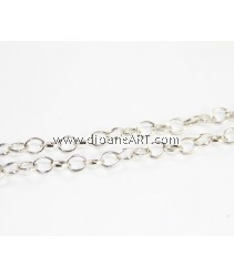 Iron Oval Chain, platinum color plated, nickel, lead & cadmium free, 6x8x1.20mm, Sold per pack of 2 meters