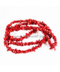 Natural Coral Beads, Nuggets, Red, 8~13mm, Hole: Approx 0.5mm, Length: 33Inch, pack/1strand