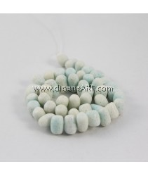 Natural Coral Beads, Nuggets, Sponge Coral, Blue, around 10x14mm, Hole: Approx 1~2mm, Length: 15Inch, pack/1strand