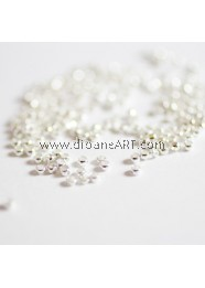 Crimp Beads, Brass, Nickel Free, Silver Colour, Size: about 2mm dia, hole:1.2mm. Sold by per pack of 10g