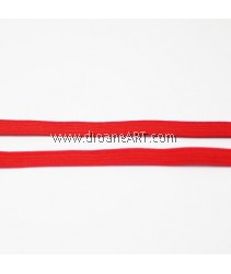 Elastic Strap, Red Colour, 6mm, 3 meters/pack