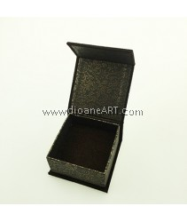 Gift Box, Card Board with Velvet, Brown, Square, 6.7 x 6.7 x 3.5 cm. Sold per pcs