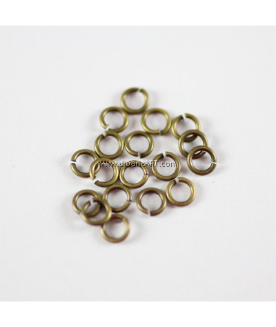 Jump Rings, Close but Unsoldered, Brass, Antique Bronze, 0.8x4mm , 50g/pack