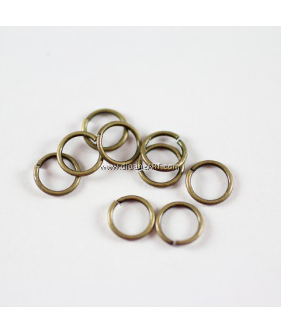Jump Rings, Close but Unsoldered, Brass, Antique Bronze,7x1mm, 50g/pack