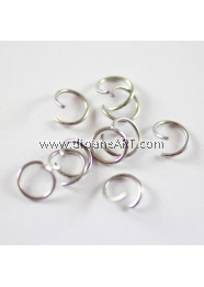 Jump Rings, Silver Plated, 10x1mm, 10g/pack