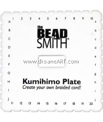 KUMIHIMO PLATE 6IN SQUARE