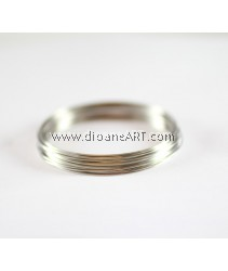 Steel Memory Wire, Nickel Free, Platinum Color, dia: about 5.5cm, Wire: 0.6mm thick, 50 circle/pack